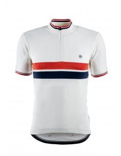 Koszulka kolarska - Biała -...