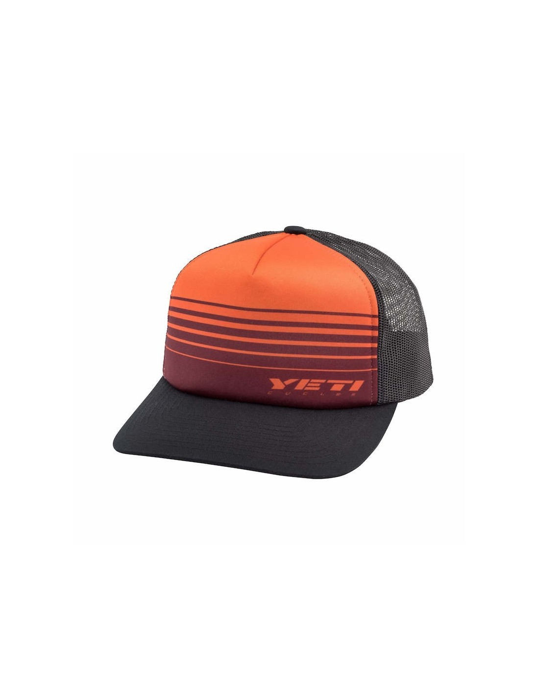 Czapka Race Stripes Foam Trucker - ORANGE BLACK eefa27560dfc
