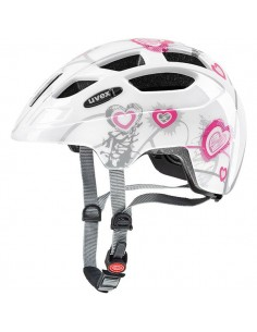Kask Uvex Finale Junior - HEART WHITE PINK 51-55cm-3982